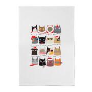 Cat Christmas Cotton Tea Towel