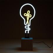 Exclusive Lightbulb Neon Light - Concrete Base