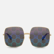 Gucci Women's Large Square Frame Sunglasses - Gold