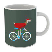 Image of Biking Reindeer Christmas Mug