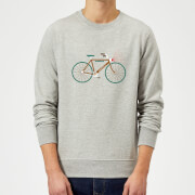 Rudolph Bike Christmas Sweatshirt - Grey - Xxl - Grey