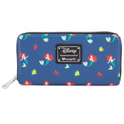 Loungefly Disney The Little Mermaid Ariel Flounder Sebastian Aop Wallet