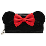 Loungefly Disney Mickey Mouse Minnie Sequin Zip Around Wallet