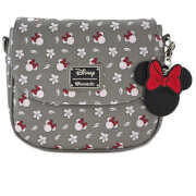 Loungefly Disney Mickey Mouse Minnie Aop Cross Body Bag - Grey