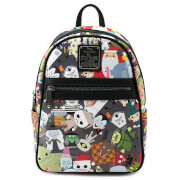 Loungefly Disney The Nightmare Before Christmas Chibi Aop Mini Backpack