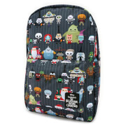 Loungefly Disney The Nightmare Before Christmas Chibi Characters Nylon Backpack