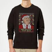 Make Christmas Great Again Christmas Sweatshirt - Black