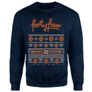 How Ridiculous Forty Four Knit Christmas Sweatshirt - Navy