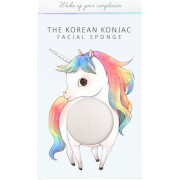 Купить Спонж для лица и крючок The Konjac Sponge Company Mythical Unicorn Standing Konjac Sponge Box and Hook — White 30 г