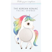 Купить Спонж для лица и крючок The Konjac Sponge Company Mythical Unicorn Prancing Konjac Sponge Box and Hook — White 30 г