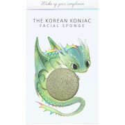 Купить Спонж для лица и крючок The Konjac Sponge Company Mythical Dragon Konjac Sponge Box and Hook — Green Clay 30 г