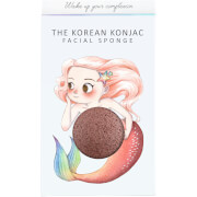 Купить Спонж для лица и крючок The Konjac Sponge Company Mythical Mermaid Konjac Sponge Box and Hook — Red Clay 30 г