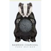 Купить Мини-спонж для лица The Konjac Sponge Company Woodland Badger Pure Konjac Mini Pore Refiner — Bamboo Charcoal 12 г