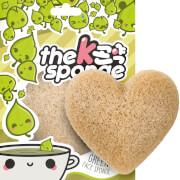 Купить Спонж в форме сердца The Konjac Sponge Company K-Sponge Heart Sponge — Green Tea 12 г