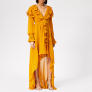 Philosophy di Lorenzo Serafini Women's Ruffle Detail Midi Dress - Yellow - IT 40/UK 8 - Yellow