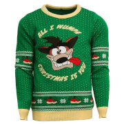 Crash Bandicoot Christmas Jumper - Green