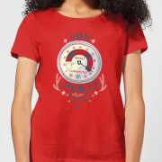 Elf clausometer womens christmas t shirt red xs rouge