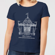 Mary Poppins Carousel Sketch Women's Christmas T-Shirt - Navy
