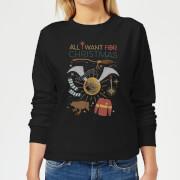 Harry Potter All I Want Women's Christmas Sweatshirt - Black
