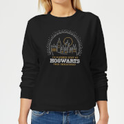 Harry Potter I'd Rather Stay At Hogwarts Women's Christmas Sweatshirt - Black