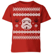 Star wars stormtrooper knit kids christmas t shirt red 7 8 ans rouge