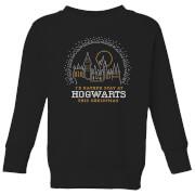 Harry Potter I'd Rather Stay At Hogwarts Kids' Christmas Sweatshirt - Black