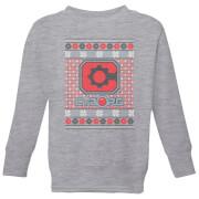 DC Cyborg Knit Kids' Christmas Sweatshirt - Grey