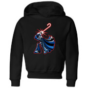 Star Wars Candy Cane Darth Vader Kids' Christmas Hoodie - Black