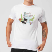 DC Nice Is Overrated Men's Christmas T-Shirt - White - L - Blanco