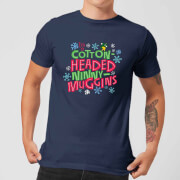 Elf Cotton-Headed Ninny-Muggins Men's Christmas T-Shirt - Navy