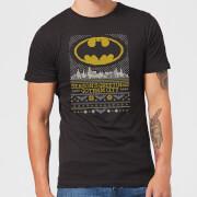 DC Seasons Greetings From Gotham Mens Christmas T-Shirt - Black - L - Black