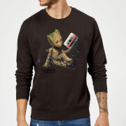 Guardians Of The Galaxy Groot Tape Christmas Sweatshirt - Black