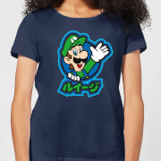 Nintendo Super Mario Luigi Kanji Women's T-Shirt - Navy