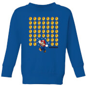 Nintendo Super Mario Coin Drop Kid's Sweatshirt - Royal Blue