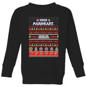 Nintendo Mario Kart Here We Go Kid's Christmas Sweatshirt - Black