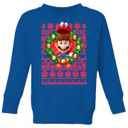 Image of Felpa Nintendo Super Mario Mario and Cappy - Blu - Bambini - 3-4 Anni - Royal Blue