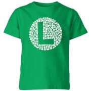 Nintendo Super Mario Luigi Items Logo Kid's T-Shirt - Kelly Green