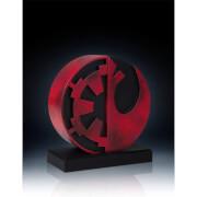 Gentle Giant Star Wars Bookends Imperial/Rebel Logo 15 cm