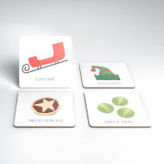 Sleigh My Name Christmas Coaster Set