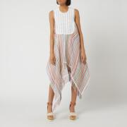JW Anderson Women's Multi Colour Stripe Bib Dress - Multi - M - Multi