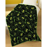 Rick & Morty Electrik Fleece Blanket