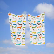 Rapport Multi Sausage Dog Towel - Multi