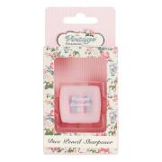 Двойная точилка для карандашей The Vintage Cosmetic Company Pink Polka Dot Duo Pencil Sharpener фото
