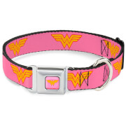 Buckle-Down DC Comics Wonder Woman Dog Collar - Pink (Various Sizes)