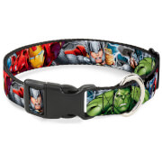 Buckle-Down Marvel Avengers Superheroes Plastic Clip Dog Collar (Various Sizes)