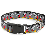 Buckle-Down Mickey Mouse Glasses Plastic Clip Dog Collar (Various Sizes)