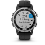Garmin Fenix 5S Plus GPS Watch – Silver/Black Band