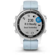 Garmin Fenix 5S Plus GPS Watch – White/Sea Foam Band