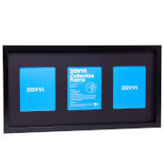 3D Black Collectors Frame with Black Mount 30x60cm