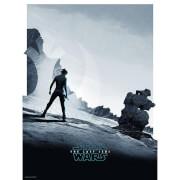 Sérigraphie «Rey» Star Wars Le Dernier Jedi 18 x 24 par Matt Ferguson – Offre exclusive Zavvi UK